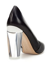 abcd1218ca3 Now — the stubborn girl that I am — I m eyeing these gorgeous acrylic heel  pumps from Zara. There is a certain starkness to them that s really  irresistible.