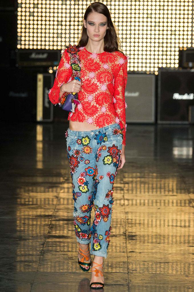 Christopher Kane embellished jeans Spring 2015