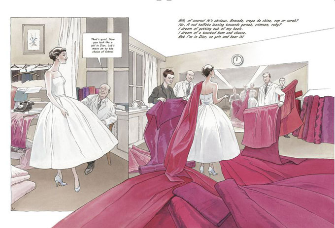 Girl in Dior graphic novel