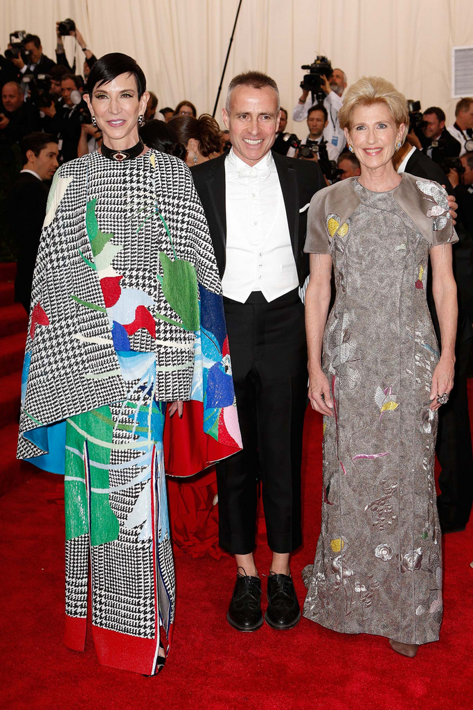 MET Gala Amy Fine Collins in Thom Browne