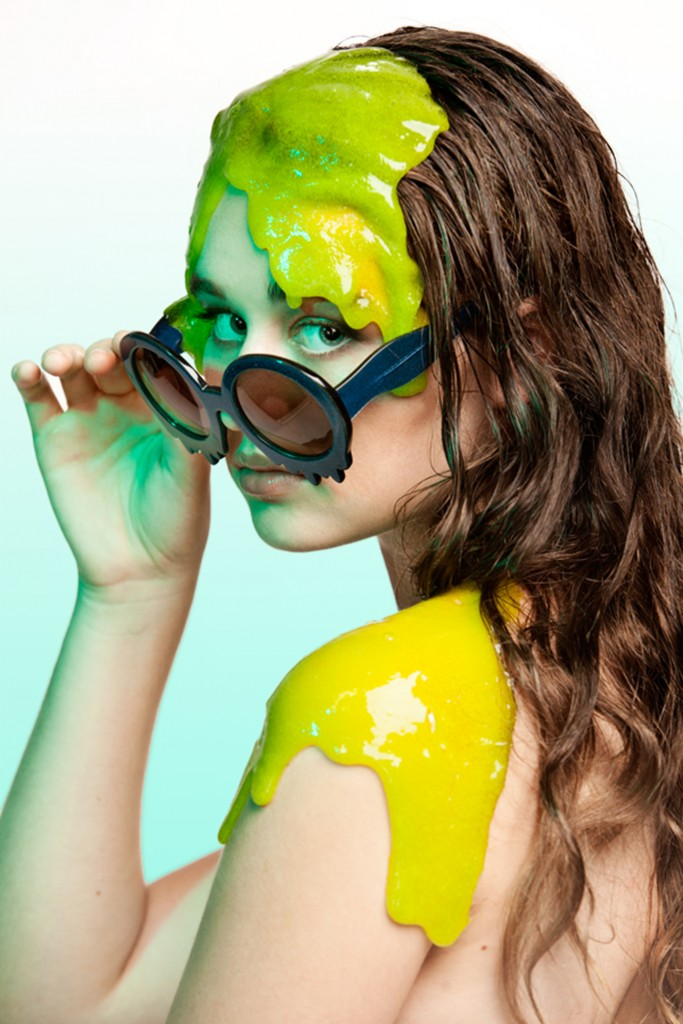 Hayley Elsaesser Slime Time Sunglasses